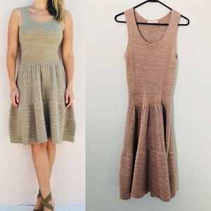 Sandro knit fit and flare dress. Medium